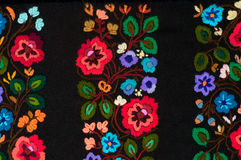 Embroidered flowers Stock Photography