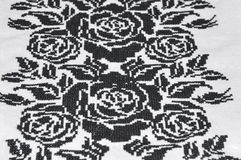 Embroidered garments of the cross black thread Royalty Free Stock Image