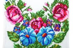 Embroidered good by cross-stitch Stock Image