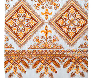Embroidered good by cross-stitch pattern Royalty Free Stock Images