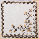 Embroidered good by cross-stitch pattern Royalty Free Stock Image