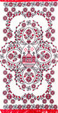 Embroidered good by cross-stitch pattern Royalty Free Stock Photography