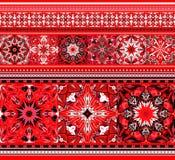 Embroidered good like handmade cross-stitch ethnic Ukraine pattern Stock Photo