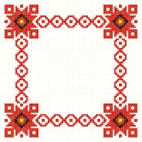 Embroidered good like handmade cross-stitch folks. Romanian pattern royalty free illustration