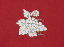 Embroidered grape Stock Photography