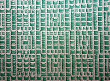 Green embroidered pattern Stock Image