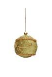 Embroidered hand-made Christmas ball Royalty Free Stock Image