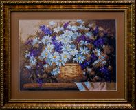 Embroidered handmade canvas Stock Photo