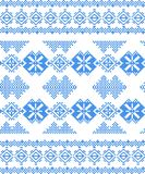 Embroidered handmade cross-stitch ethnic pattern Royalty Free Stock Photo