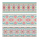 Embroidered handmade stitch Ukraine ethnic pattern Stock Photography