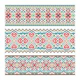 Embroidered handmade stitch Ukraine ethnic pattern vector illustration