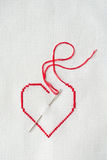 Embroidered heart Royalty Free Stock Image