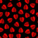 embroidered heart pattern stock illustration