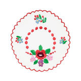 Embroidered Hungarian tablecloth Royalty Free Stock Image