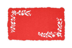 Embroidered Hungarian tablecloth Stock Photo