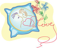 Embroidered kiss Royalty Free Stock Photography