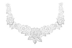 Embroidered lace trim over white Stock Image