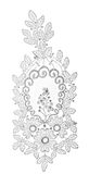 Embroidered lace trim over white Royalty Free Stock Photo