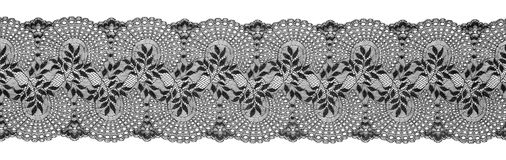 Embroidered Lace Trim Ribbon, Needlework Border, Embroidly Stock Photo
