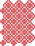 Embroidered motif. Red embroidered motif in traditional Ukrainian pattern Stock Images