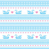 Embroidered motif seamless pattern. Embroidered traditional ornamental folk motif seamless pattern Royalty Free Stock Photography