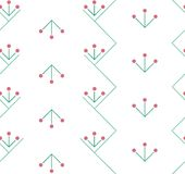 Embroidered pattern on fabric, seamless Stock Image