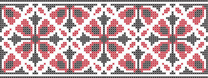 Embroidered pattern on transparent background Royalty Free Stock Images