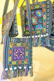 Embroidered patterned purses Royalty Free Stock Photo