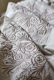 Embroidered Percale Stock Photo