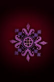 Embroidered pink flower Royalty Free Stock Images