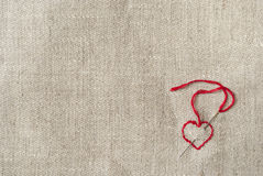 Embroidered red heart Stock Image