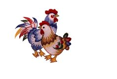 Embroidered rooster Royalty Free Stock Photography