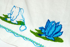 Embroidered serviette Stock Images