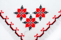 Embroidered serviette Stock Photography