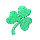 Embroidered shamrock Stock Images