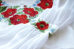 Embroidered shirt Royalty Free Stock Images