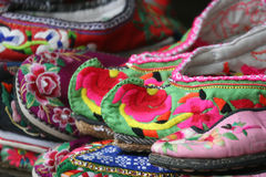 Embroidered shoes Royalty Free Stock Images