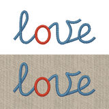 Embroidered Sign Love. Vector Realistic Illustration Of Embroidered Sign Love. Editable Colors. Print Quality Royalty Free Stock Photo