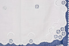 Embroidered table center. Handmade royalty free stock images