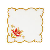 Embroidered tablecloth Royalty Free Stock Photos