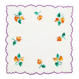 Embroidered tablecloth Royalty Free Stock Images