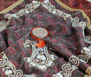 Embroidered Tapestry. Used in traditional Persian wedding ceremony Royalty Free Stock Photography