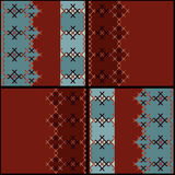 Embroidered textile ornamental seamless cross-stitch pattern bac Royalty Free Stock Photo