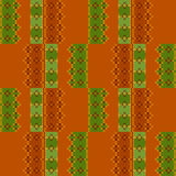 Embroidered textile ornamental seamless cross-stitch pattern bac Royalty Free Stock Images