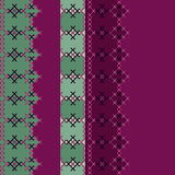Embroidered textile ornamental seamless cross-stitch pattern bac Royalty Free Stock Image