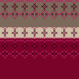 Embroidered textile ornamental seamless cross-stitch pattern Stock Photo