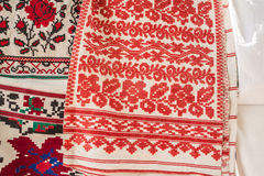 Embroidered towels central regions of Ukraine Royalty Free Stock Photography
