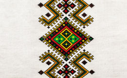 Embroidered . ukrainian ethnic orname. Embroidered good by cross-stitch pattern. ukrainian ethnic orname Stock Photography