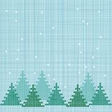 Embroidered winter background Stock Photography