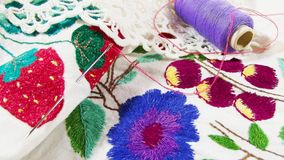 embroidery imagens de stock royalty free